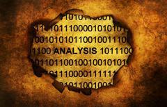Analysis binary data grunge concept Stock Photos