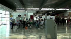 Dublin Airport departure lounge Stock Footage