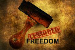 Censored freedom grunge concept - stock photo