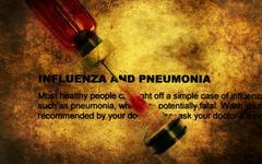 Influenza and pneumonia grunge concept Stock Photos