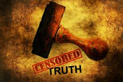 Censored truth grunge concept Stock Photos