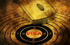 Online visa grunge  concept - stock photo