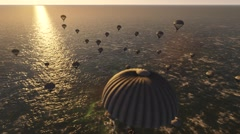 Paratroopers On Air Stock Footage