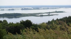 Dnepr river panorama. View from Vitachiv village Stock Footage