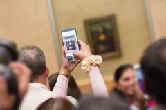 Leonardo DaVinci's Mona Lisa in Louvre Museum. Kuvituskuvat