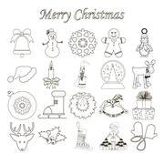 Christmas Icons Set - stock illustration