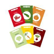 Vegetable Seeds Icon Stock Illustration