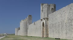 View of Aigues-Mortes, Camargue. Stock Footage