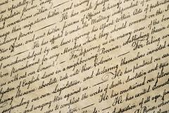 American Declaration of independence 4th july 1776 detail Stock Photos