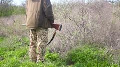 in an ambush Hunter - stock footage