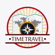 Trip icon set. Time to travel design. Vector graphic Piirros