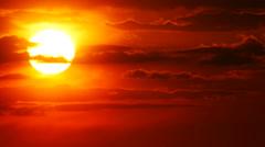 Big Sun With Orange Sky - stock footage