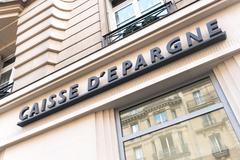 Paris, France - April 28, 2016: Caisse d'épargne sign Stock Photos