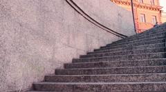 Granite Staircase Of English Embankment, Saint-Petersburg Stock Footage
