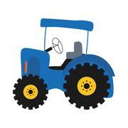 tractor icon. Farm concept. Vector graphic - stock illustration