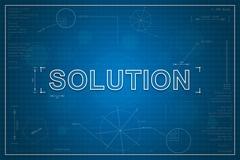 blueprint of solution - stock illustration