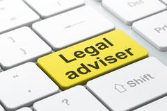 Law concept: Legal Adviser on computer keyboard background - stock illustration
