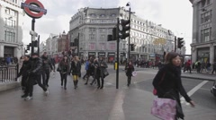 Oxford Circus London Stock Footage