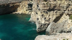 The Blue Lagoon on Comino Island Stock Footage