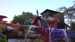 Beautiful water park scenery in Shanghai, China. Stock Footage