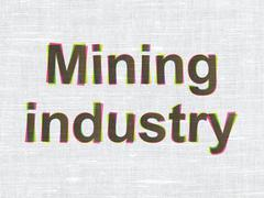 Industry concept: Mining Industry on fabric texture background Piirros