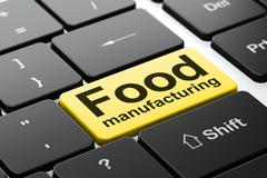Industry concept: Food Manufacturing on computer keyboard background Stock Illustration