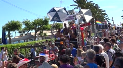 Pride of the lesbian, gays, bisexuals and transgenders of Sitges, Spain - stock footage