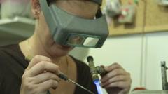 Jewelry Designer Melting Coper Stock Footage