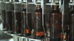automatic beer bottling - stock footage