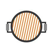 Roaster icon. Steak house design. Vector graphic Stock Illustration