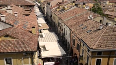 Aerial view of the Cittadella city, Padua Italy. Stock Footage