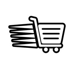 Shopping cart icon. Commerce design. Vector graphic - stock illustration