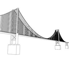 Vector Golden Gate Bridge - San Francisco Piirros