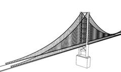 Vector Golden Gate Bridge - San Francisco Stock Illustration