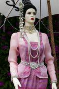 dummy with traditional antique dress of Thailand - stock photo