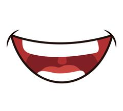 Smile cartoon icon. Mouth design. Vector graphic Stock Illustration