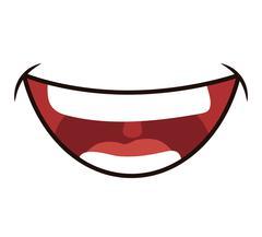 Smile cartoon icon. Mouth design. Vector graphic - stock illustration