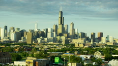 Aerial cityscape view of skyscrapers and urban areas Chicago Stock Footage