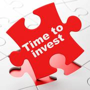 Time concept: Time To Invest on puzzle background - stock illustration