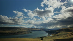 Columbia River, Columbia Gorge, Clouds, Time Lapse Stock Footage
