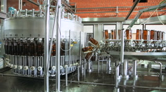Brewery. The brewing industry Stock Footage