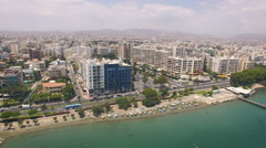 2 shots of Limassol city in Cyprus Stock Footage