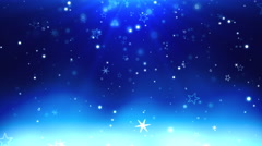 Blue Christmas background with snowflakes Stock Footage