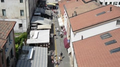 Aerial view of the Cittadella city Padua, Italy. Stock Footage