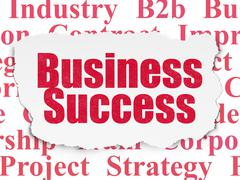 Finance concept: Business Success on Torn Paper background - stock illustration