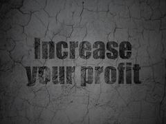 Finance concept: Increase Your profit on grunge wall background - stock illustration