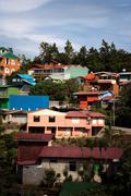 Buildings on a hillside in Santa Elena Stock Photos