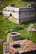 Portion of the Ruins of Troy - stock photo