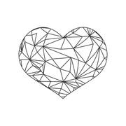 Heart shape icon. Love design. Vector graphic - stock illustration