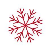 Red snowflake. Winter design. Vector graphic Stock Illustration